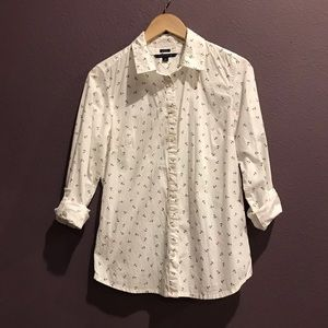 Tommy Hilfiger Anchor Print Button-Up Shirt